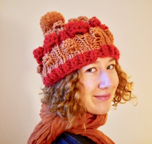 Knitted Hat multicolored mixture fibre