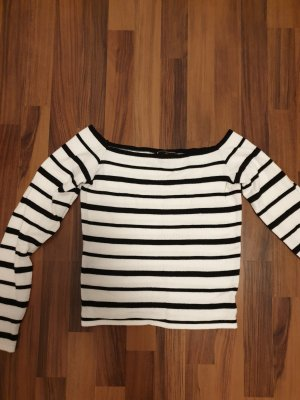 Lipsy Carmen shirt wit-zwart