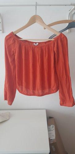 Gina Tricot Top sin hombros naranja oscuro