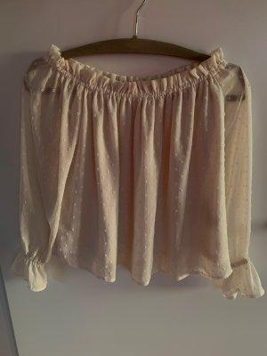H&M Carmen blouse wolwit Polyester