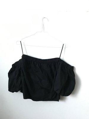 Bershka Oversized blouse zwart