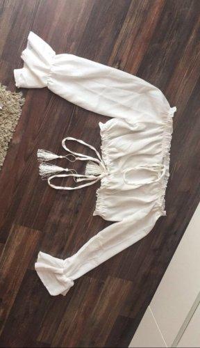SheIn Wraparound Blouse white
