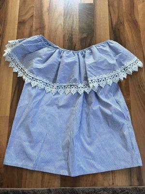 Vestino Blusa senza maniche bianco-azzurro
