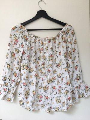 Off shoulder Bluse Blumen