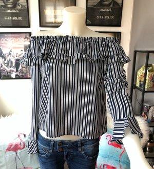 Off-shoulder Bluse H&M gestreift S