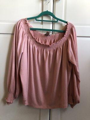 H&M Bluzka z długim rękawem różowy