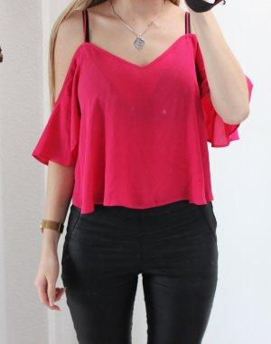 • Off Shoulder Bluse in pink