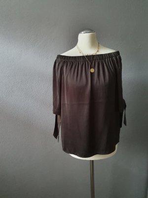 Off-Shoulder Bluse khaki von H&M Größe 34