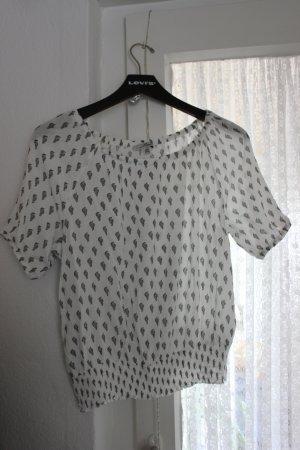 Off-Shoulder Bluse mit Print von mavi