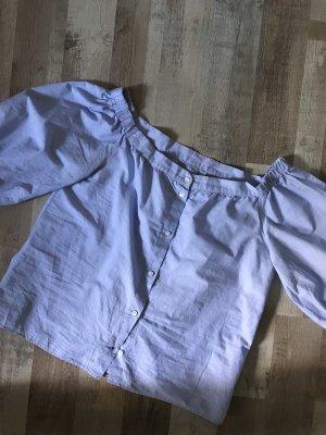 Off Shoulder Bluse mit Puffärmeln