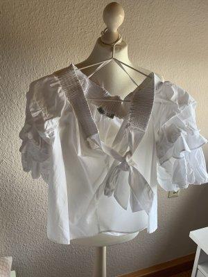 Off-Shoulder Bluse mit Schleife ZARA NEU
