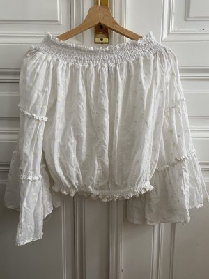 Zara Carmen Blouse white-cream