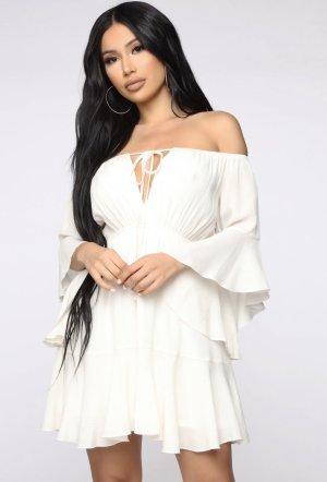 Vestido tipo blusón blanco