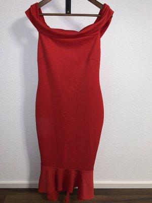 Off shoulder Kleid Rot