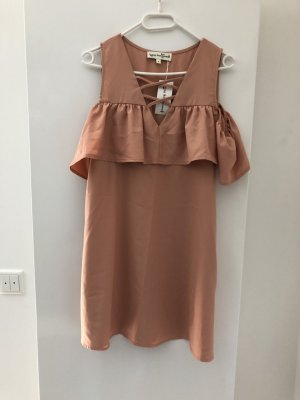 Hippie Dress nude polyester