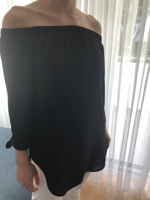 Haily's Bluzka typu carmen czarny Poliester