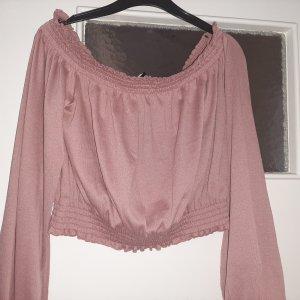 H&M Top sin hombros rosa empolvado