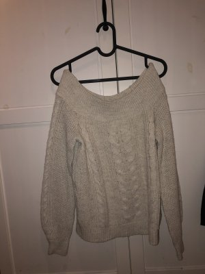 Abercrombie & Fitch Cable Sweater cream-natural white