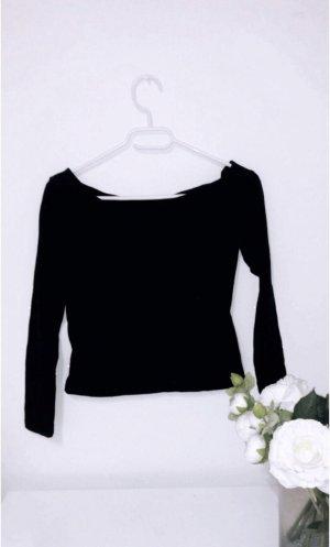 Off shoulder schulterfrei schwarz zara basic top oberteil shirt