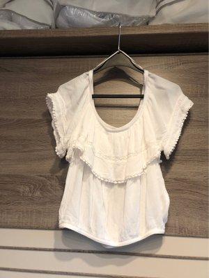 H&M Carmen Shirt white