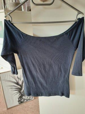 Vero Moda Ribbed Shirt dark blue