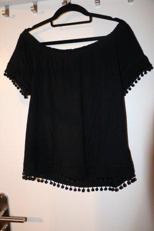 H&M Eénschoudershirt zwart