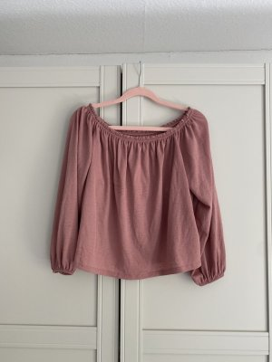 Bershka Carmen shirt roségoud