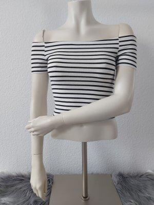 H&M Camicia monospalla bianco-nero