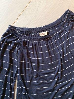 Hollister Camisa tipo Carmen azul oscuro-blanco