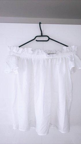Off shoulder shirt top Oberteil weiß dchulterfrei rüschen