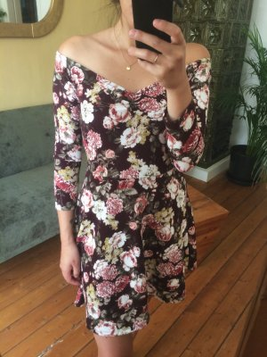 Off Shoulder Sommerkleid mit Blumenprint