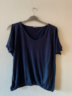 Street One Koszulka basic ciemnoniebieski Wiskoza