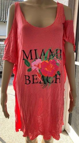 Off Shoulder Strand Miami Shirt Kleid Urlaub Sommer Miami Beach off Shoulder Strandkleid neuwertig 40/42 100 % Viskose