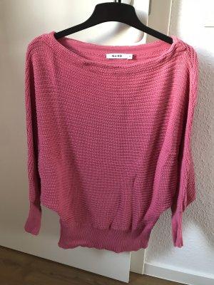 Off Shoulder Strickpullover pink von Na-kd, Größe M