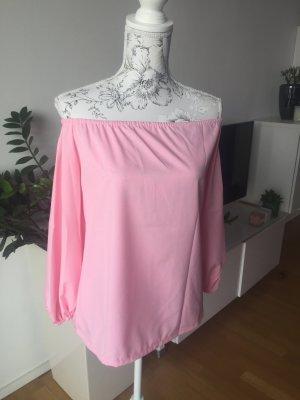 Blusa alla Carmen rosa-rosa chiaro