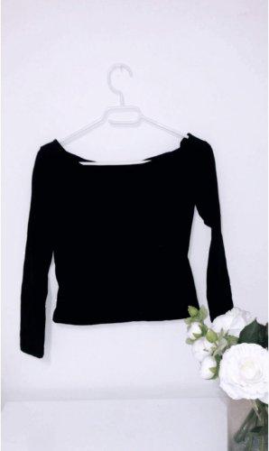 Off shoulder top schulterfrei oberteil shirt tshirt pulli pullover schwarz