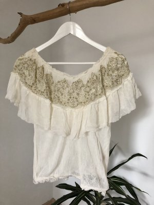 Free People Off-The-Shoulder Top natural white-gold-colored