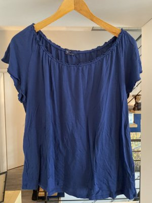 Gap Off the shoulder top donkerblauw