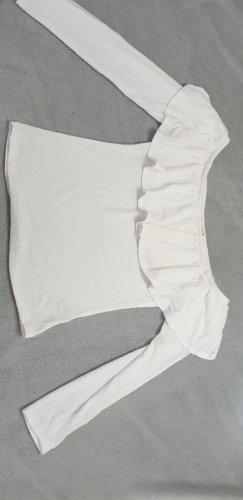 Off the shoulder Shirt in creme weiß von Showpo