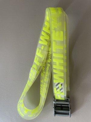 Off-White Waist Belt neon yellow