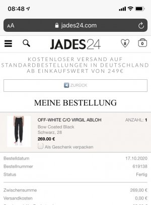 OFF-White c/o Virgil Abloh jeans size28