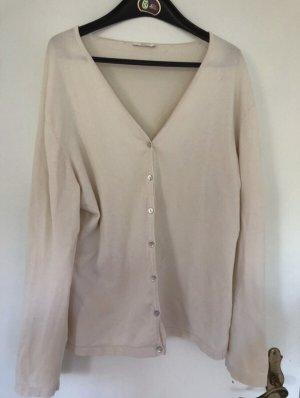 Basefield Cardigan in maglia bianco sporco-bianco