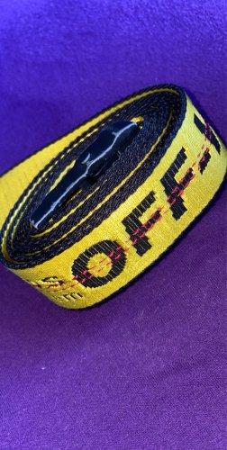 Off-White Fabric Belt yellow-black