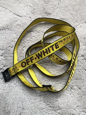 Off-White Ceinture en tissu jaune-noir