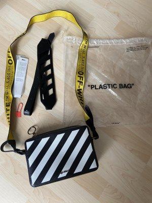Off-White Gürteltasche Fannypack Diag aus Leder, neuwertig, mit Trageriemen und Plastic Bag
