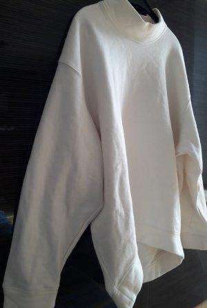 Moss Copenhagen Vestido de tela de sudadera blanco puro Algodón