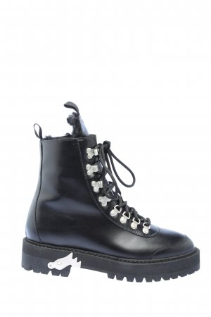 Off-White Botas de nieve negro look casual