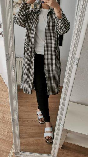 Camicia a maniche lunghe marrone-bianco sporco Cotone