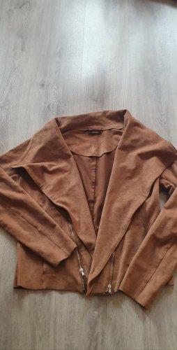 Jessica Blouson cognac tissu mixte
