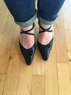 Gabor Strapped pumps black leather